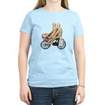 Two on Bike Picnic Basket Women's Light T-Shirt
