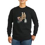 Two on Bike Picnic Basket Long Sleeve Dark T-Shirt