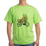 Two on Bike Picnic Basket Green T-Shirt
