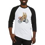 Two on Bike Picnic Basket Baseball Jersey