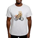 Two on Bike Picnic Basket Light T-Shirt