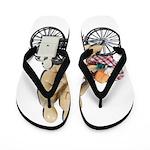 Two on Bike Picnic Basket Flip Flops