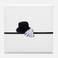 Top Hat Black Cane White Glov Tile Coaster