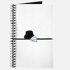 Top Hat Black Cane White Glov Journal