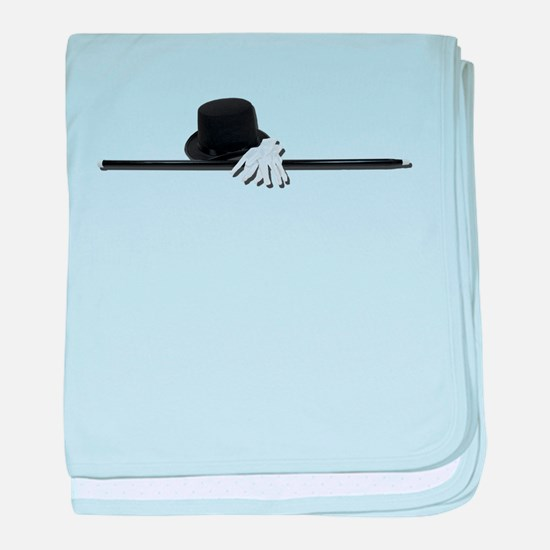 Top Hat Black Cane White Glov baby blanket