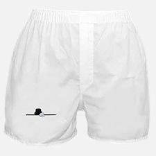 Top Hat Black Cane White Glov Boxer Shorts