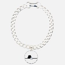 Top Hat Black Cane White Glov Bracelet