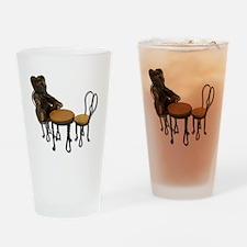 Teddy Bear Bistro Setting Drinking Glass