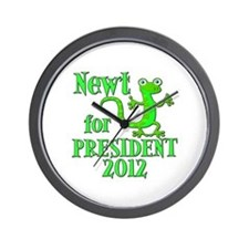 Newt Gingrich For President 2012 Wall Clock
