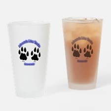 Mountain Lion Track Pair Drinking Glass