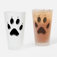 Wolf Track 1 Drinking Glass