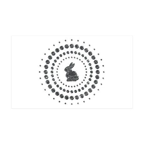 Rabbit Chrome Studs 38.5 x 24.5 Wall Peel