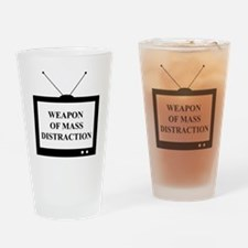 Weapon of Mass Distraction Drinking Glass