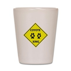 Coyote Crossing Shot Glass