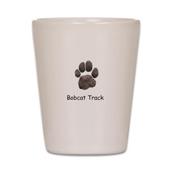 Real Bobcat Track Shot Glass