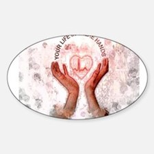 Jmcks Your Life In There Hand Sticker (Oval)