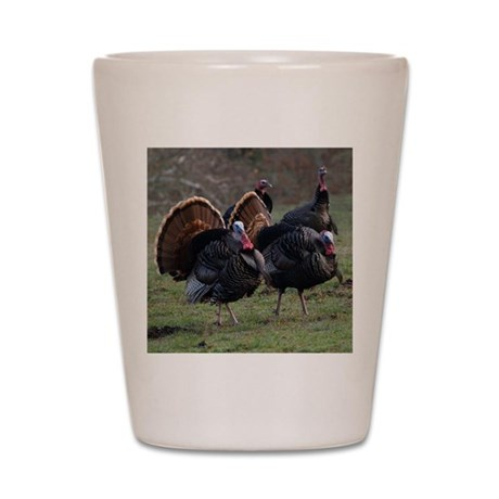 Four Gobblers Shot Glass