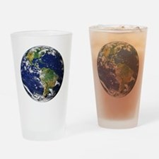 Planet Earth Drinking Glass