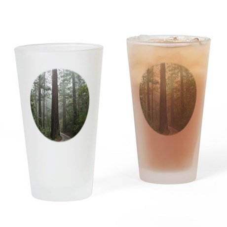 Redwood Forest Fog Drinking Glass