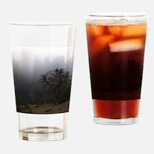 Misty Trees Drinking Glass