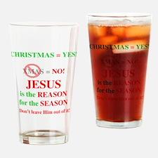Jesus Christmas Drinking Glass
