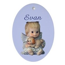 Evan Ornament (Oval)