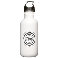 Cow Chrome Studs Water Bottle