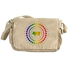 Pig Rainbow Studs Messenger Bag