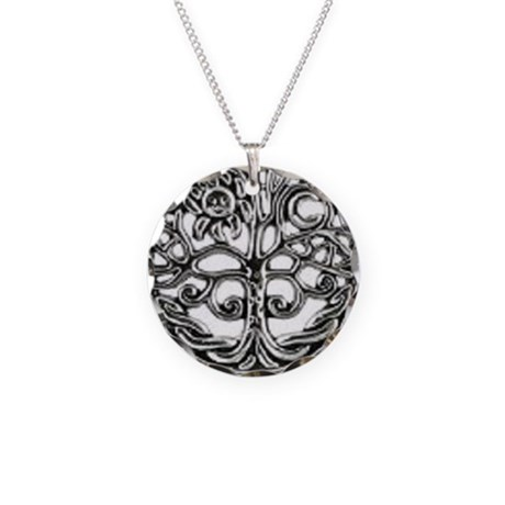 Celtic Tree Of Life Custom Circle Charm Necklace
