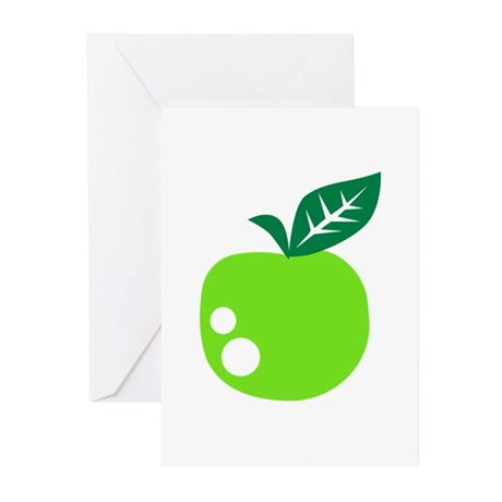 Green apple Greeting Cards (Pk of 10)