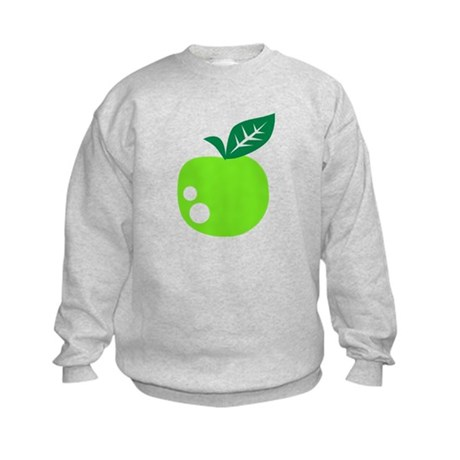 Green apple Kids Sweatshirt