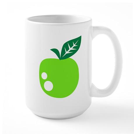 Green apple Large Mug