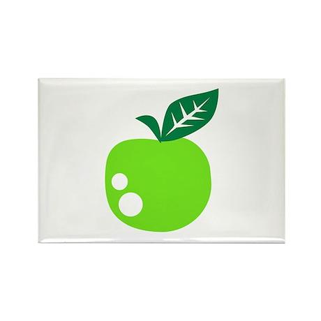 Green apple Rectangle Magnet (100 pack)