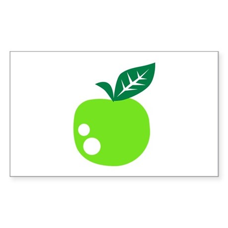 Green apple Sticker (Rectangle)