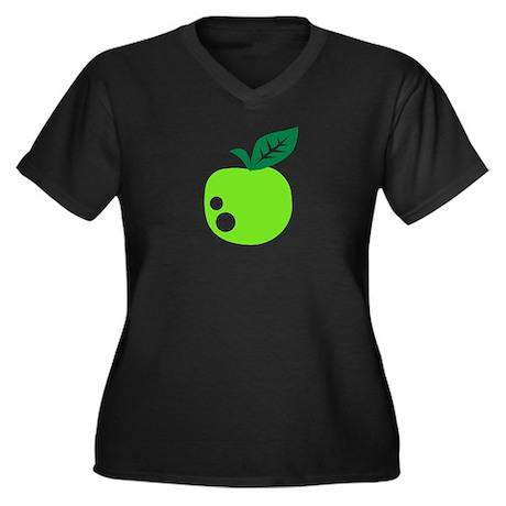 Green apple Women's Plus Size V-Neck Dark T-Shirt