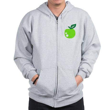 Green apple Zip Hoodie