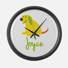 Joyce Loves Puppies Large Wall Clock