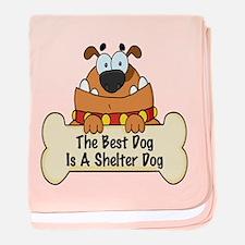 Best Shelter Dogs baby blanket