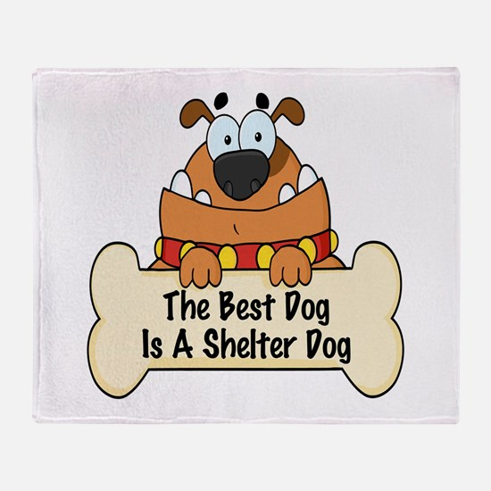 Best Shelter Dogs Throw Blanket