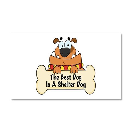 Best Shelter Dogs Car Magnet 20 x 12