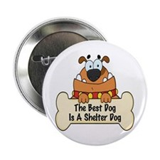 """Best Shelter Dogs 2.25"""" Button"""