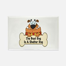 Best Shelter Dogs Rectangle Magnet (100 pack)