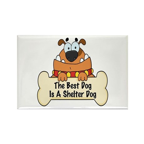 Best Shelter Dogs Rectangle Magnet (10 pack)