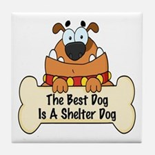 Best Shelter Dogs Tile Coaster