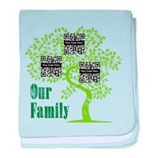 QR Family Tree (3) baby blanket