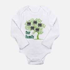 QR Family Tree (5) Long Sleeve Infant Bodysuit