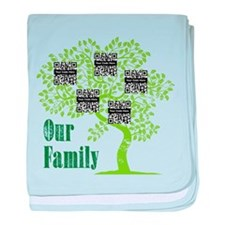 QR Family Tree (5) baby blanket