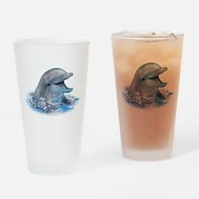 Happy Dolphin Drinking Glass