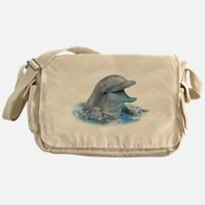 Happy Dolphin Messenger Bag