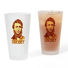 "Thoreau ""Disobey"" Drinking Glass"